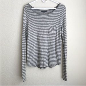 [Vince] Striped Long Sleeve Top